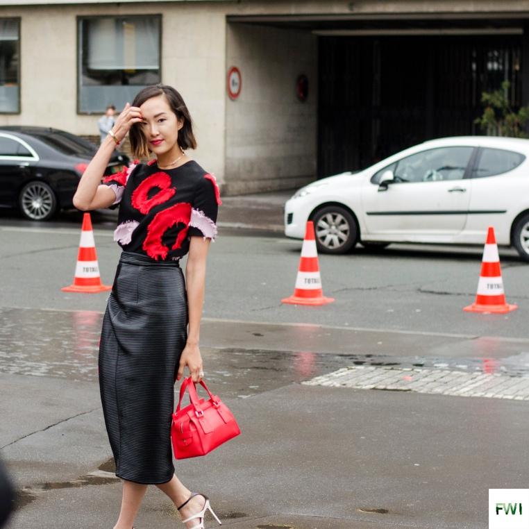 Chriselle Lim before Versace