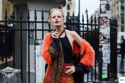 Hanne Gaby Odiele after Versace