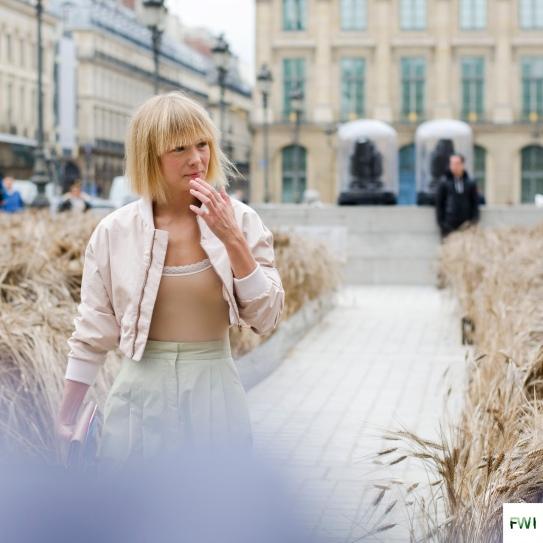 Vika Gazinskaya before Schiaparelli