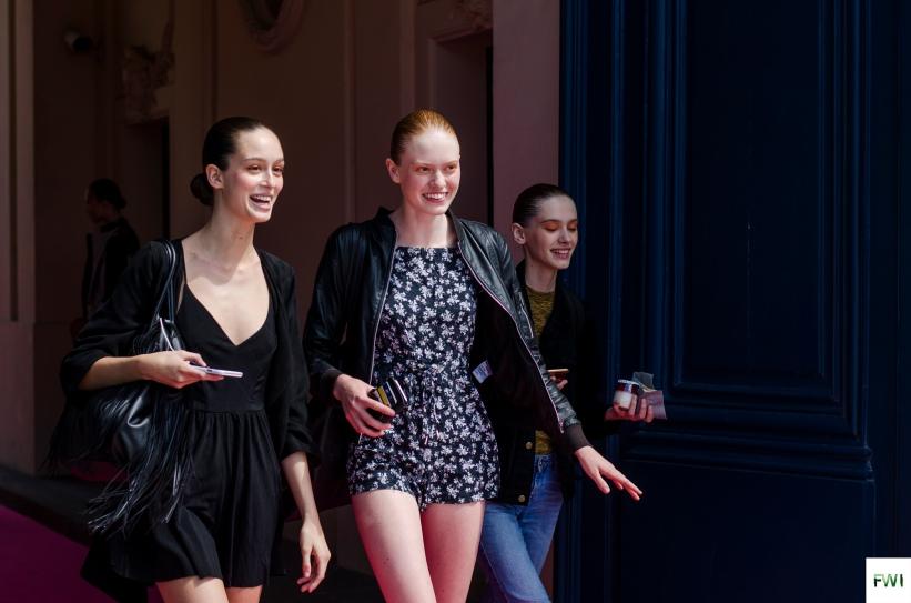 Models off duty after Schiaparelli
