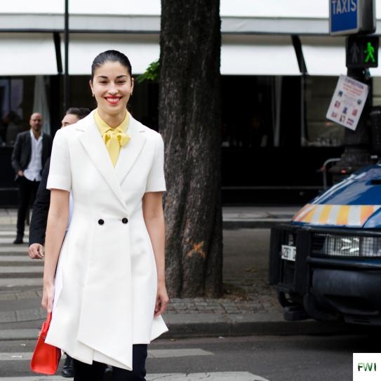 Caroline Issa before Dior