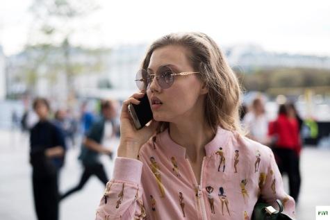 Model Lindsey Wixson after Koché