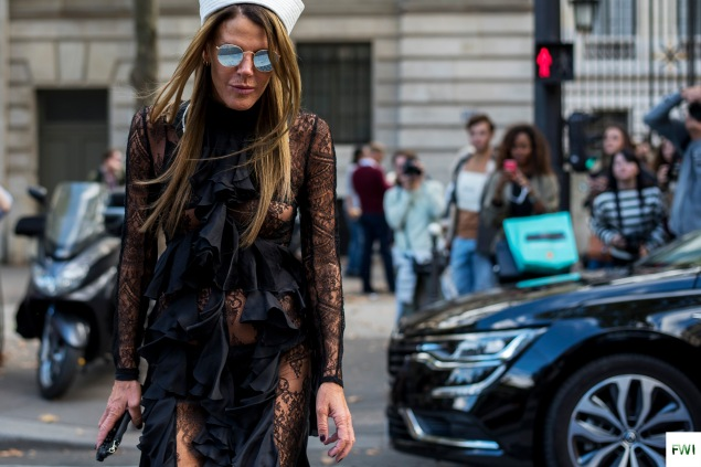 Anna Dello Russo after Balmain