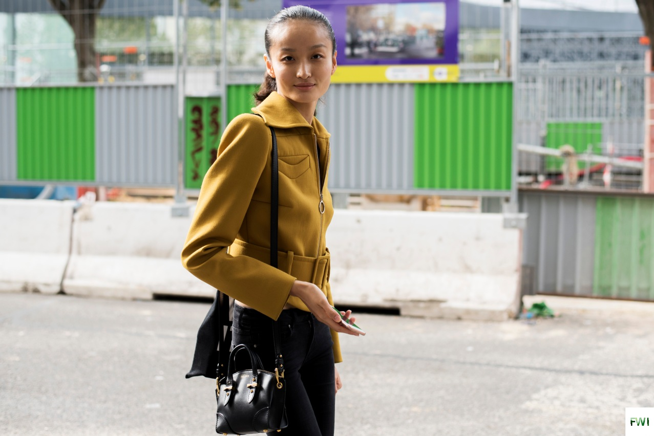 Model off Duty After Issey Miyake