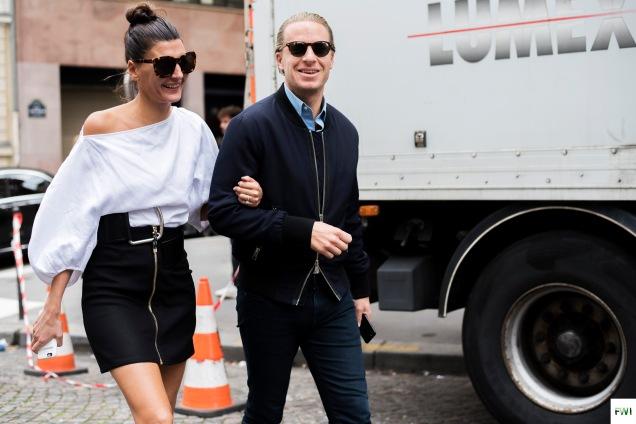 Giovanna & Oscar Engelbert before Acne Studios