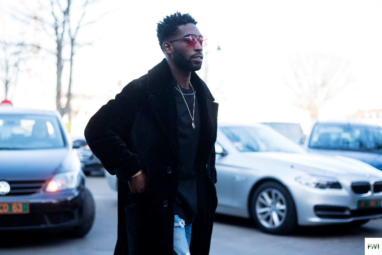 Tinie Tempah before Off-White