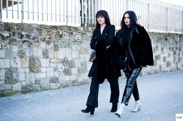 Kristina Bazan & Fiona Zanetti before Off-White
