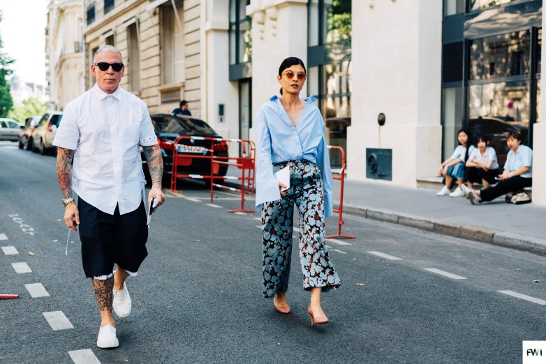 Nick Wooster & Julie Ragolia before Valentino